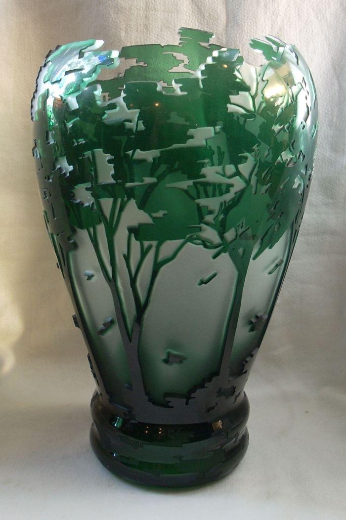 Cameo Cutaway Tree Vase